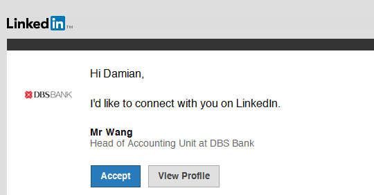 LinkedIn Mr Wang