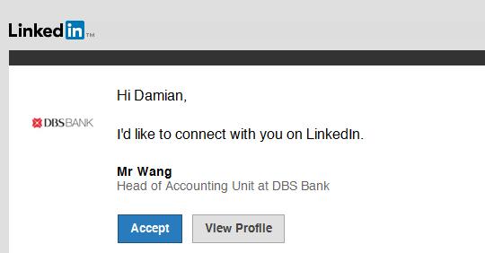 LinkedIn Mr Wang