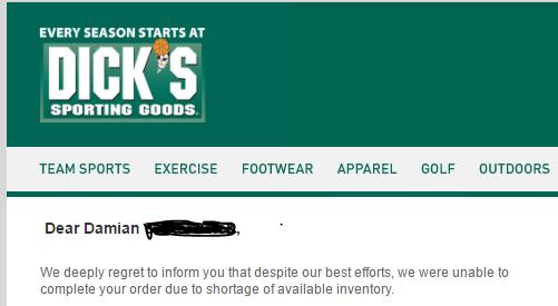 dicks order cancel